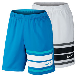 NIKE MENS COURT GRAPHIC 9 INCH TENNIS SHORT