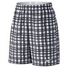 NIKE Men`s Court 9 Inch Plaid Tennis Short White and Black