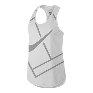 Women`s Baseline Tennis Tank White