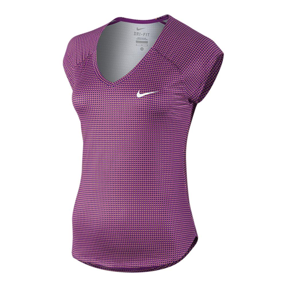 NIKE Women`s Printed Pure Tennis Top
