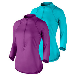 Women`s Baseline Half-Zip Tennis Top