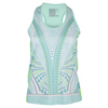 LUCKY IN LOVE Women`s Retro Wave Racerback Tennis Tank Seafoam