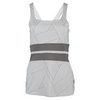 Women`s Excel Tennis Tank Strike Print and Frost Gray by ELEVEN