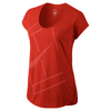 NIKE Women`s Baseline Tennis Top Light Crimson
