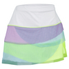 LUCKY IN LOVE Girls` Mesh Scallop Tennis Skort Seafoam and White