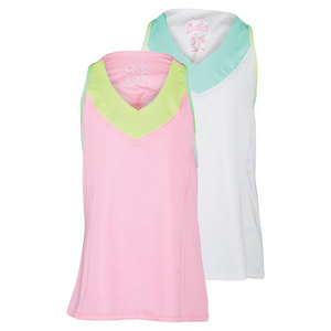 Girls` V-Neck Racerback Tennis Tank