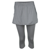FILA Women`s Net Set Skorty Tennis Capri Light Gray