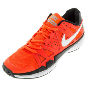 Men`s Air Vapor Advantage Tennis Shoes Total Crimson and Black