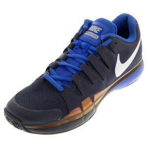 Men`s Zoom Vapor 9.5 Tour Tennis Shoes Obsidian and Hyper Cobalt