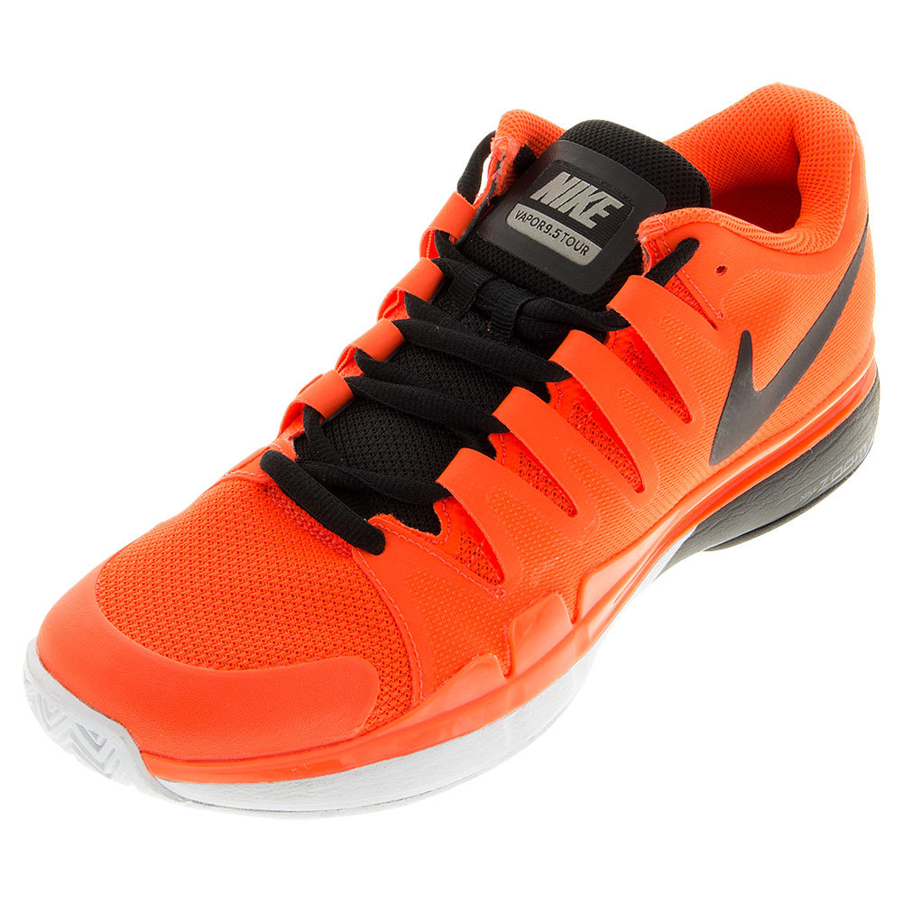 Men's Zoom Vapor 9.5 Tour Tennis Shoes Total Crimson And Dark Gray