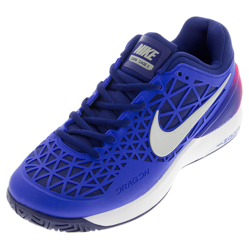 Women's Zoom Cage 2 Tennis Shoes Racer Blue And Deep Royal