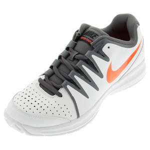 Men`s Vapor Court Tennis Shoes White and Dark Gray