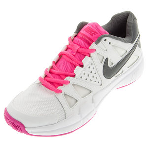 Women`s Air Vapor Advantage Tennis Shoes White and Hyper Pink