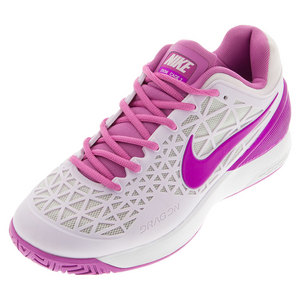 NIKE WOMENS ZM CAGE 2 TNS SHOES BLCH LIL/SILV