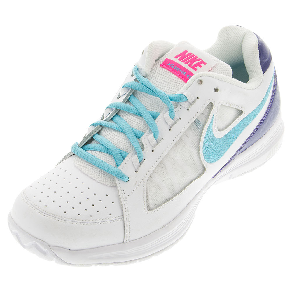 Women's Air Vapor Ace Tennis Shoes White And Dark Purple Dust