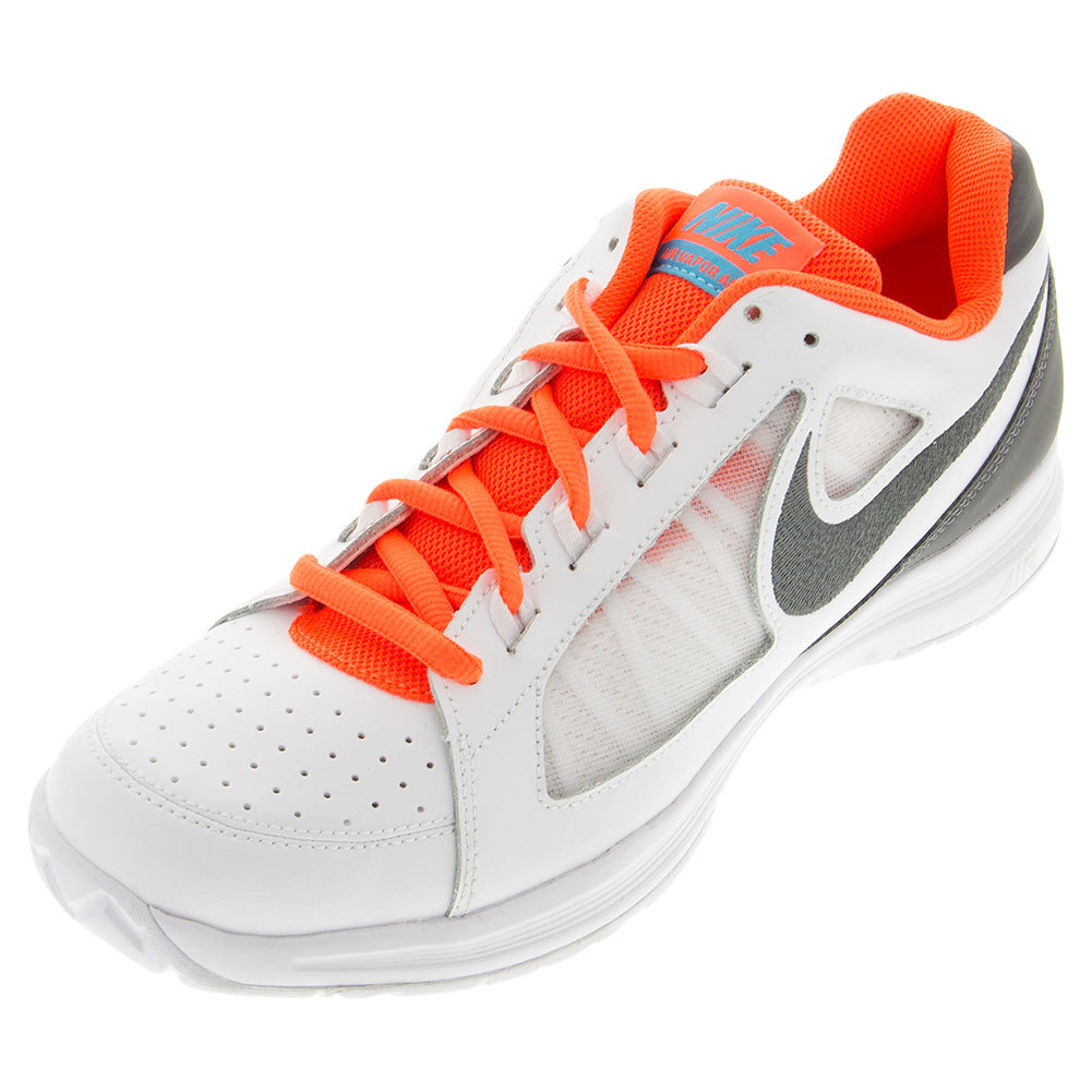 Men's Air Vapor Ace Tennis Shoes White And Bright Orange