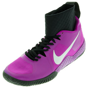 Women`s Flare Tennis Shoes Hyper Violet and Black