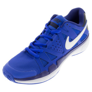 Men`s Air Vapor Advantage Tennis Shoes Hyper Cobalt and Deep Royal