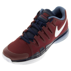 Men`s Zoom Vapor 9.5 Tour Tennis Shoes Team Red and Obsidian