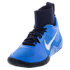 NIKE Women`s Flare Tennis Shoes Photo Blue and Obsidian