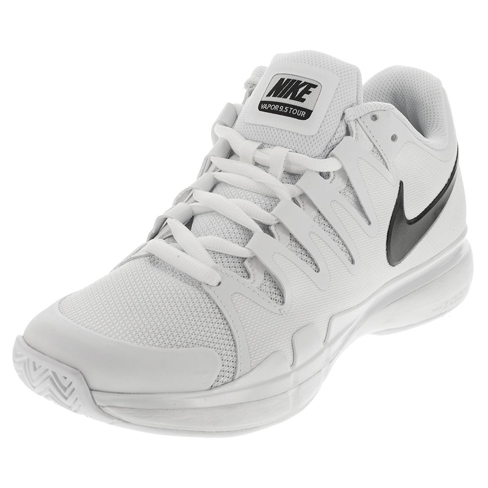 s zoom vapor 9 5 tour tennis shoes white and black