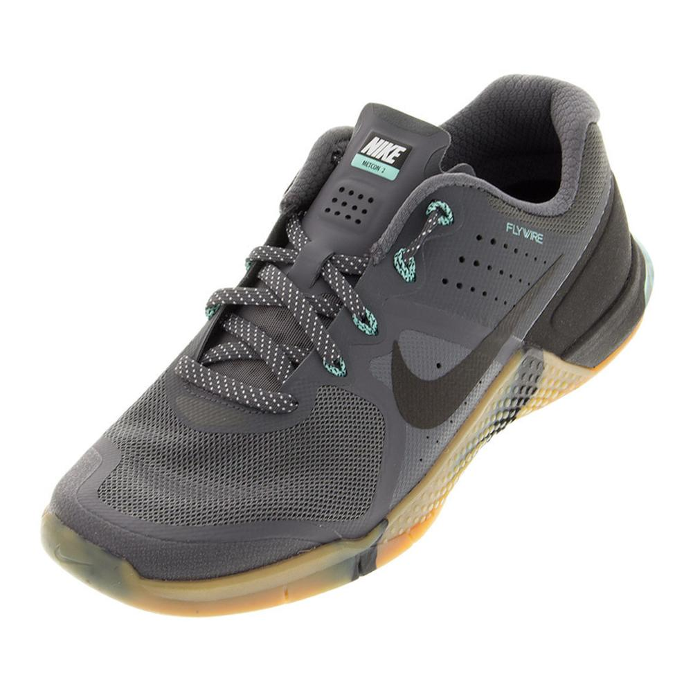 Men's Metcon 2 Training Shoes Dark Gray And Hyper Turquoise