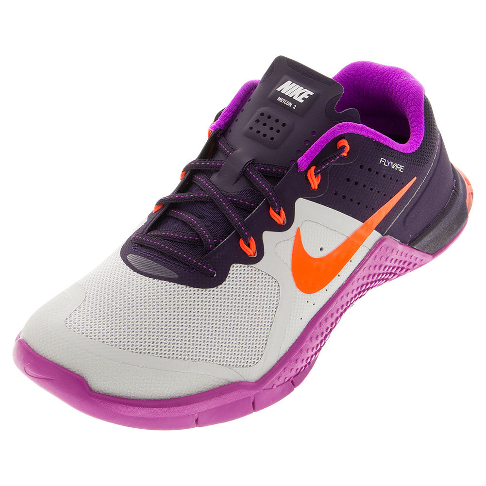 Women's Metcon 2 Training Shoes Pure Platinum And Hyper Violet