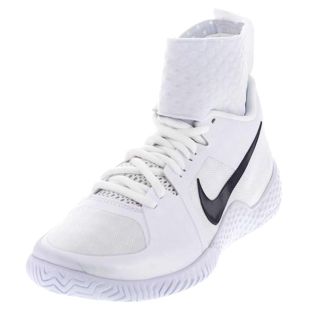 nike s flare tennis shoes white and black