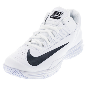 Men`s Lunar Ballistec 1.5 Tennis Shoes White and Black