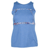 LIJA Women`s First Lap Tennis Tank Heather Deep Blue