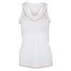 LIJA Women`s Cross Back Tennis Tank White and Persimmon