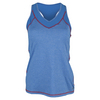 LIJA Women`s Cross Back Tennis Tank Heather Deep Blue