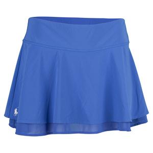 Women`s Ruffle Tennis Skort Diplomat Blue