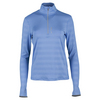 POLO RALPH LAUREN Women`s Embossed Stripe 1/2 Zip Mock Neck Top Gentry Blue