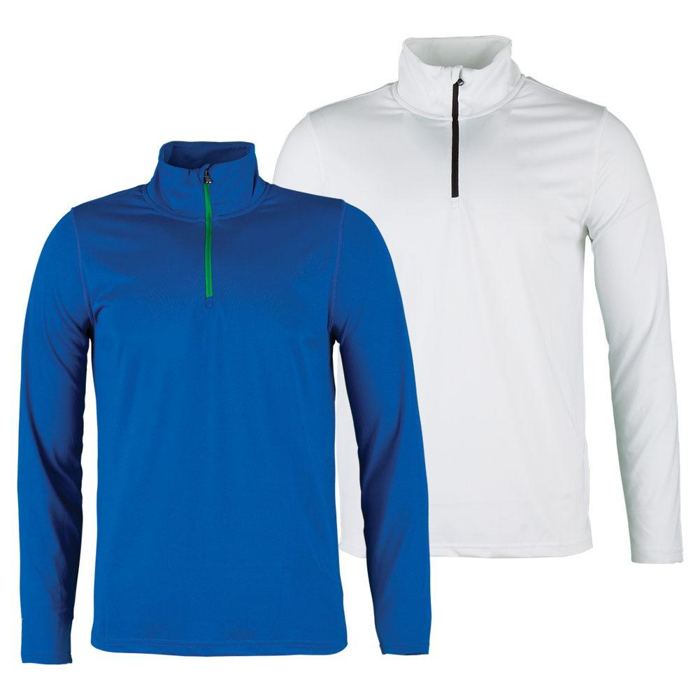 Men's Simple Half Zip Tennis Top