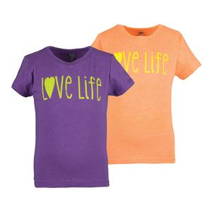 Girls` Love Life Tennis Tee