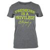 Women`s Pressure is a Privilege Tennis Tee GY_GRAY
