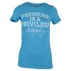 Women`s Pressure is a Privilege Tennis Tee VT_VINTAGE_TURQ