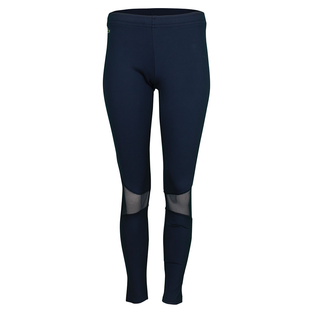 Women's Technical Ultra Dry Mesh Inset Tennis Legging Navy Blue