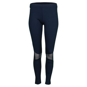 Women`s Technical Ultra Dry Mesh Inset Tennis Legging Navy Blue