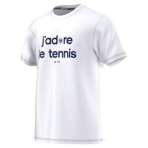 Men`s Roland Garros Y-3 Event Tennis Tee White