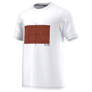 Men`s Roland Garros Y-3 Logo Tennis Tee White