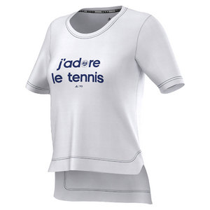 Women`s Roland Garros Y-3 Event Tennis Tee White