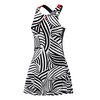 ADIDAS Women`s Roland Garros Y-3 On Court Tennis Dress Black and White