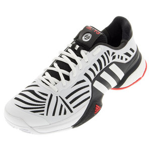 Men`s Y-3 Barricade Boost X Tennis Shoes Black and White