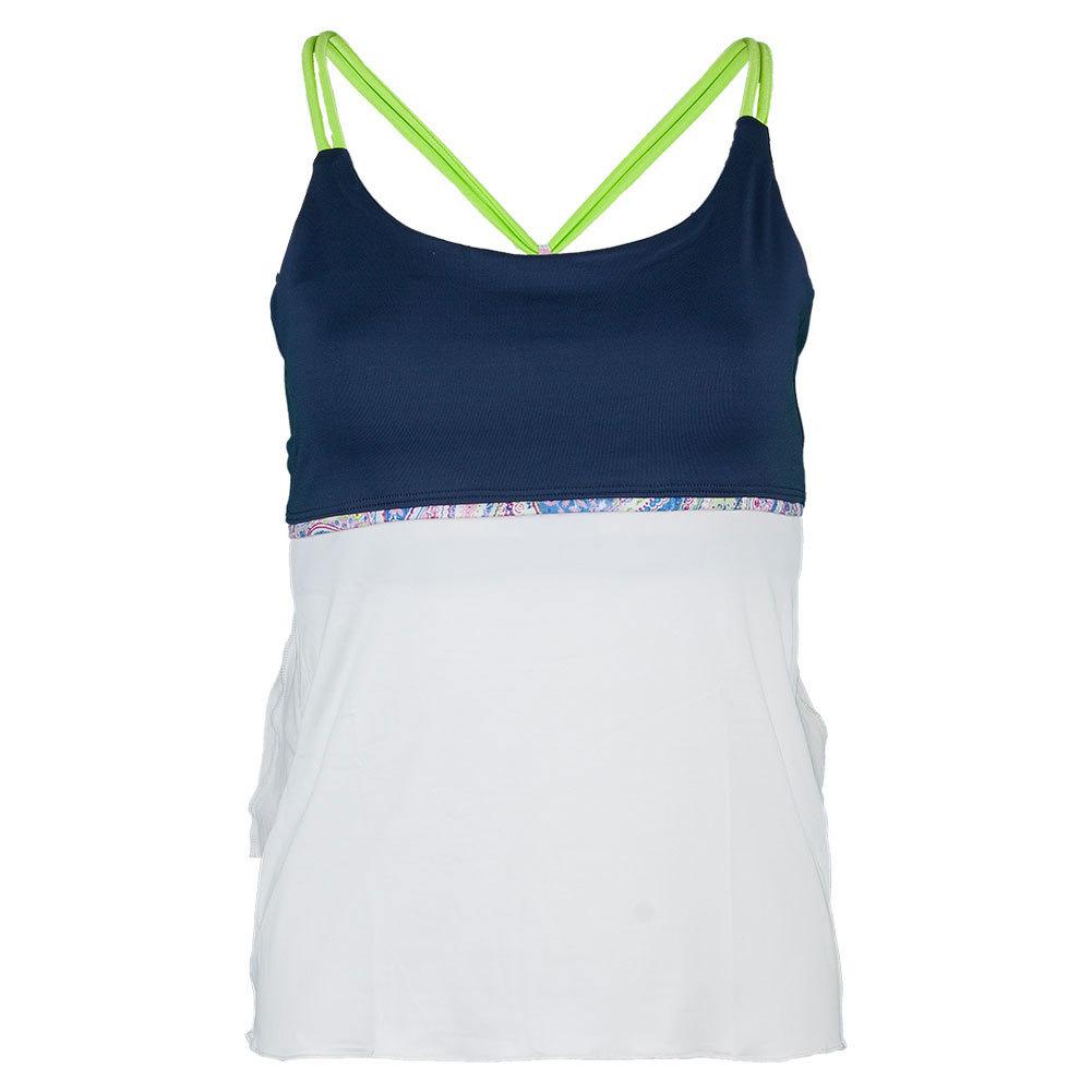 Women's Neo Spaghetti Strap Tennis Top White