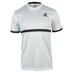 adidas MENS COURT TENNIS TEE WHITE/BLACK