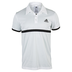 Men`s Court Tennis Polo White and Black