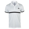 ADIDAS Men`s Court Tennis Polo White and Black