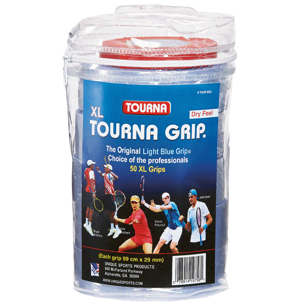 Tourna Grip Xl Tennis Overgrip 50 Pack Blue